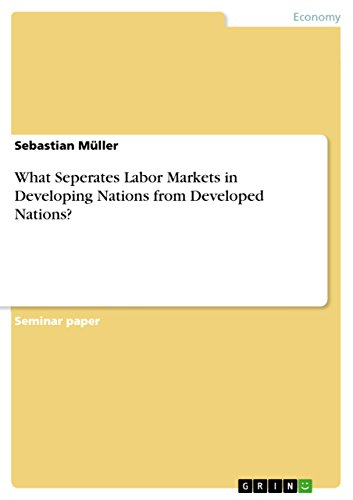 What Seperates Labor Markets in Developing Nations from Developed Nations? (English Edition)