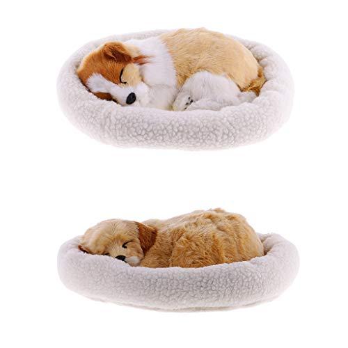 perfeclan 2pezzi Cucciolo di Golden Retriever Che Dorme e Respira, 32 x 24 x 9 cm