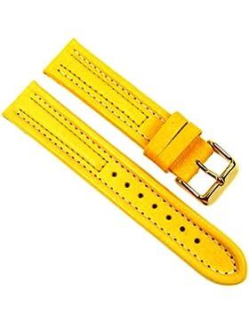Birkenstock Arizona Sport Ersatzband Uhrenarmband Kalbsleder Gelb 20602G, Stegbreite:20mm