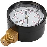 """Medidor de presión de vacío de 5 cm para compresor de aire, aceite de agua de gas de 1/4"""" NPT montaje inferior MF"""