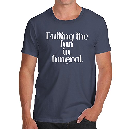 TWISTED ENVY Mens Novelty T Shirt Christmas Putting The Fun in Funeral