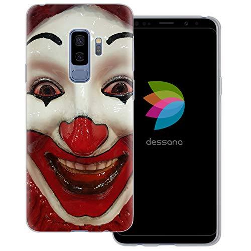 ty transparente Schutzhülle Handy Case Cover Tasche für Samsung Galaxy S9 Plus Clown Maske ()