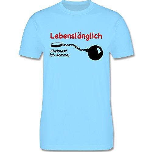 JGA Junggesellenabschied - Lebenslänglich - Eheknast ich komme - Herren Premium T-Shirt Hellblau