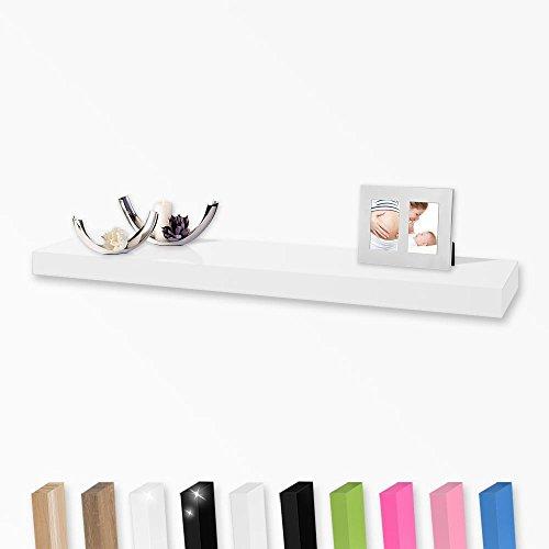 Wandboard Wandregal in vielen Farben und Größen, Farbe:weiß;Länge:120cm