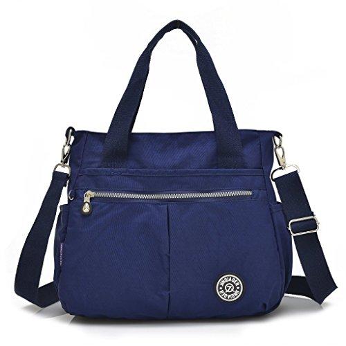 Grande borsa da donna con portachiavi a forma di scimmia, multitasche, borsa a tracolla impermeabile Navy blue