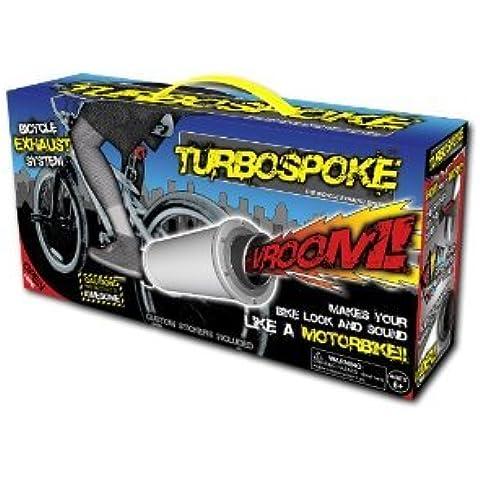 Turbospoke Sistema de tubo de escape para bicicleta, con tubo de escape, abrazadera, 3 tarjetas de motor, adhesivos y set de herramientas