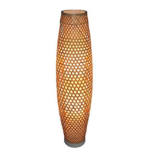 Hauptbeleuchtung Bambus Wicker Rattan Shade Vase Stehleuchte Leuchte rustikal asiatisch japanisch nordisch Kunst Licht Abajur Luminaria Leuchte (Color : Brown) -