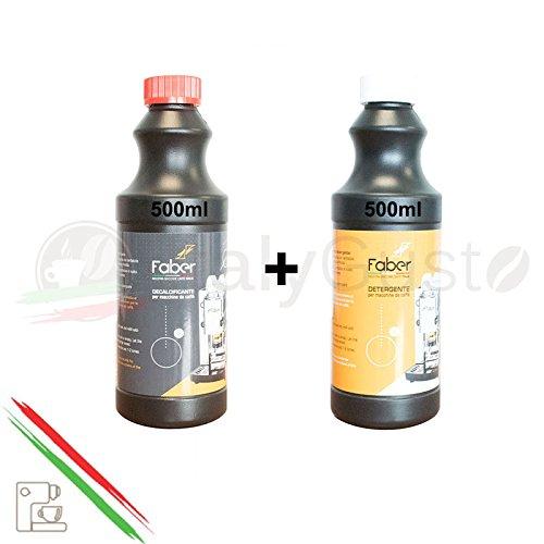 Faber Decalcificante + Detergente Per Tutte Le Macchine Da Caffè