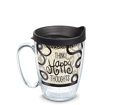 Tervis Happy Everything Think Happy Thoughts Tasse mit Deckel, 473 ml