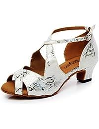 BYLE Sandalias de Cuero Tobillo Modern Jazz Samba Zapatos de Baile Zapatos de Baile Zapatos de Baile Latino de...