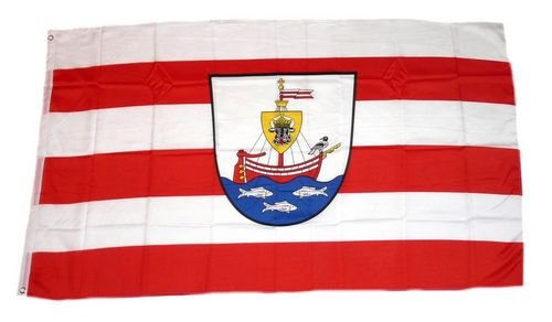 Fahne / Flagge Wismar Wappen 60 x 90 cm