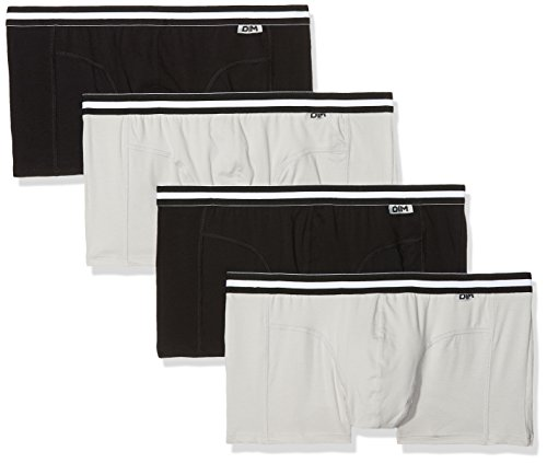 Dim Eco - Boxer - Lot de 4 - Homme - Multicolore (Noir/Gris/Noir/Gris 03n) - X-Large (Taille fabricant: 5)