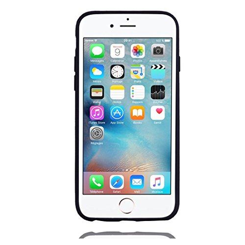 iPhone 6S / 6 Copertura,Modello variopinto di Bling del fumetto sveglio creativo Custodia protettiva della pelle in gomma sottile TPU Case per iPhone 6S / 6 4.7inch,Stelle Unicorn nero