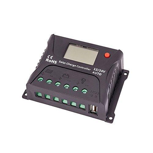 HQST 10 Amp PWM Inteligente Controlador de Carga Solar Con Pantalla LCD