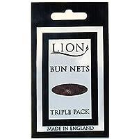 Lion Haarnetze, für Ballett, Pferde, 10 Packungen mit 3 Stück, glatt, 30 Stück Dunkelbraun
