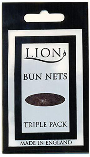 Lion Haarnetze, für Ballett, Pferde, 10 Packungen mit 3 Stück, glatt, 30 Stück Dunkelbraun (Haarnetze Tanz)