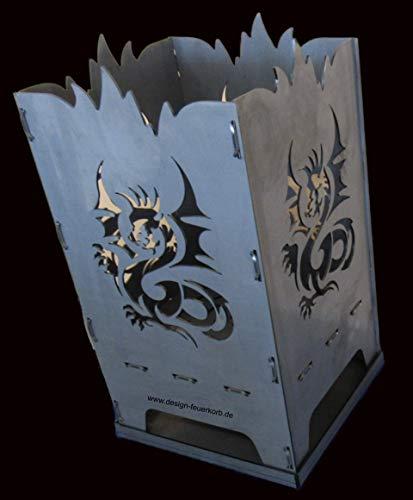 Design Feuerkorb Feuerschale aus Stahl Dragon Drache