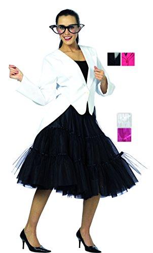Blazer in weiß für Damen | 42| 1-teiliges Jackett Kostüm | Frack Faschingskostüm für Frauen | Damen Frack für (Frauen Schwalbenschwanz Kostüme)