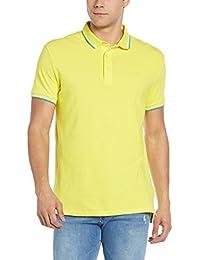 United Colors of Benetton Men's Cotton Polo (17P3069J3119I_B43_Yellow_M)