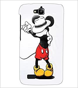 PrintDhaba Mickey Mouse D-1971 Back Case Cover for HUAWEI HONOR HOLLY (Multi-Coloured)