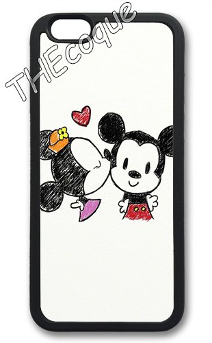 Coque silicone BUMPER souple IPHONE 6/6s PLUS - Made in FRANCE motif 3 DESIGN case+ Film de protection OFFERT 3