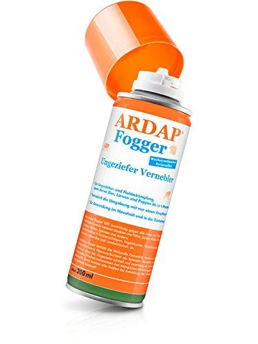 ARDAP Fogger – Zuverlässiger Vernebler zur Ungeziefer- und Flohbekämpfung für die Anwendung im Innenbereich - wirksamer Schutz für bis zu 6 Monate – 200 ml