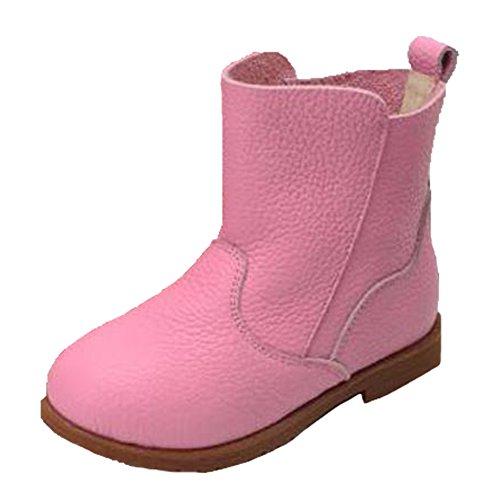 Ohmais Enfants Fille Chaussure bottes et bottines en cuir pink