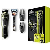 Braun BT3041 - Recortadora de barba y cortapelos, eléctrico con cuchillas afiladas de larga duración, maquinilla Gillette Fusion5 ProGlide Con Tecnología FlexBall de regalo, negro/verde
