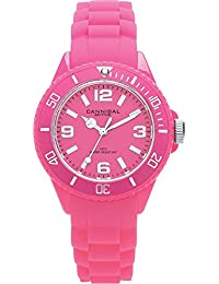 Cannibal Kid's Quartz Watch with Pink Dial Analogue Display and Pink Silicone Strap CK215-15