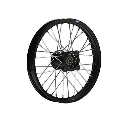 HMParts Pit Bike Dirt Bike Cross Alu Felge eloxiert 14 Zoll vorne schwarz 12 mm Typ2 (Dirt Für Bike Felge)