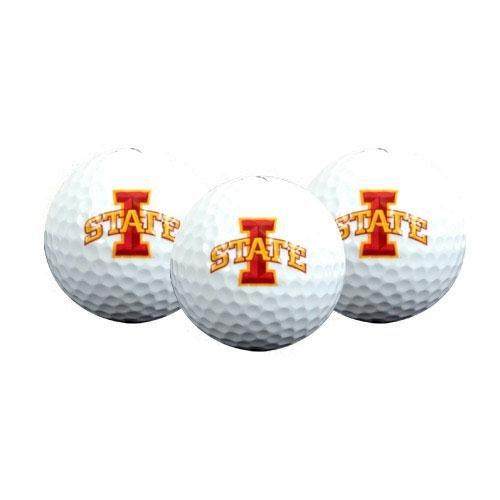 te Golfball 3er Pack, Herren Damen Unisex-Erwachsene Unisex-Kinder, Iowa State Cyclones Golf Ball 3-Pack, Iowa State ()