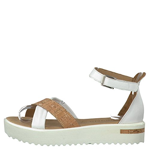 Tamaris  1-1-28214-28/140 140, chaussures compensées femme Weiß