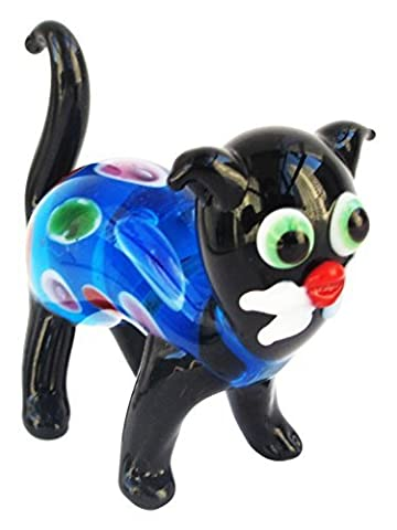 Fitz and Floyd Binks Glass Cat Figurine by Fitz and Floyd