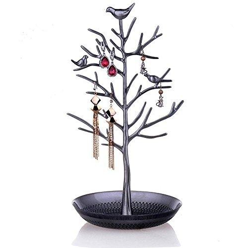 DoubleBlack Schmuck Organizer Vögel Baum für Schmuck Ohrring Halsketten Halter Schmuckständer zur Aufbewahrung - 3
