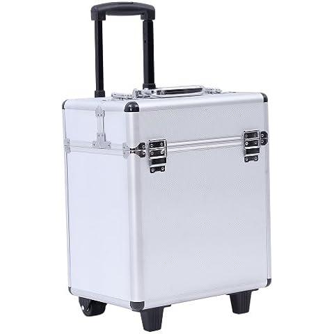 Songmics® beauty case maleta multiusos tipo trolley Maletín para maquillaje Estuche de maquillaje