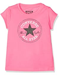 Converse Chuck Patch Tee, T-Shirt Fille, Neo Pink