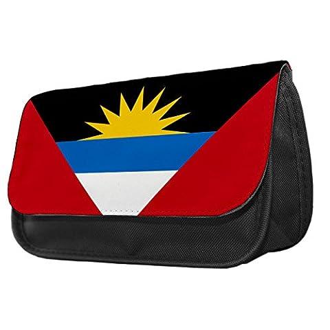 Antigua und Barbuda Flagge Bleistift Fall/Make-up Tasche 009