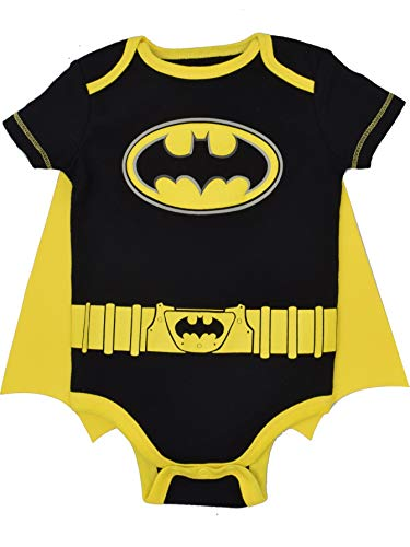 DC Comics Batman Baby Jungen Body und Cape Set, Schwarz 18 Monate (Superman Kostüm Baby)