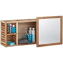 Suchergebnis Auf Amazon De Fur Spiegelschrank Holz Relaxdays