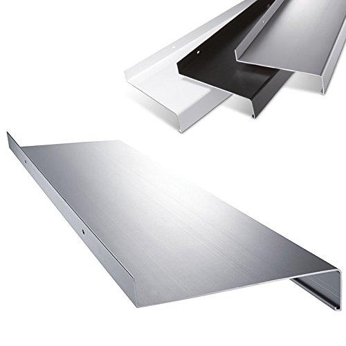Aluminium Fensterbank in Silber Zuschnitt nach Maß Länge 1200 mm Ausladung 210 mm - weitere Längen und Farben wählbar (Farbe Bank)