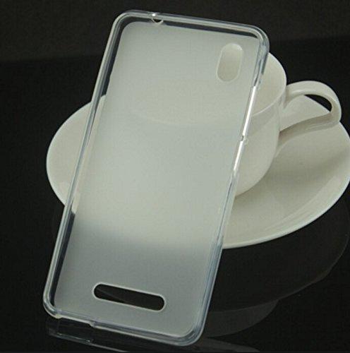 Prevoa ® 丨ZTE Blade A452 Hülle - Transparent Silikon TPU Hülle Cover Case Schutzhülle Tasche für ZTE Blade A452 5,0 Zoll Smartphone - (Weiß)