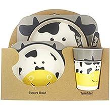 5pcs / Set Vajilla Niños,GZQ,Juegos de vajilla Animal para comer,cubiertos