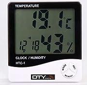 Termometro e Igrometro Digitale Lcd - bianco, 1, Plastica - Display temperatura nuovissimo e di alta qualità, con visualizzazione simultanea di umidità e orario. Grande display Lcd che permette una facile lettura. Bassi consumi energetici. Fu...