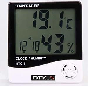 BuyinCoins - Termometro digitale LCD, temperatura e umidità