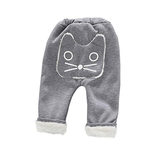 SHOBDW Boys Trousers, Baby Unisex Cute Leggings Velvet Animal Long Super Thick Winter Warm Children Kids Pants