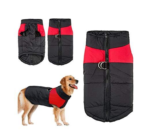 V-Best Hund Winter Fell Weste Wasserdichte Jacke Daunen Weste Warm gefütterte Geschirr Hund Welpen Kleidung Weste Geeignet für Kleine Mittlere Große Hunde, XL (Neck:15.54