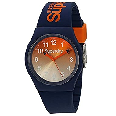 Superdry Men's Analogue Quartz Watch with Silicone Strap – SYG198UO