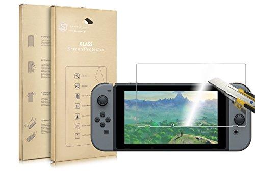 Supremery Bildschirm Glas Folie für Nintendo Switch Schutzfolie extra Hart gegen Kratzer und Stürze - Blasenfrei HD Clear (Premium Qualität) - Erste Qualität T-shirts