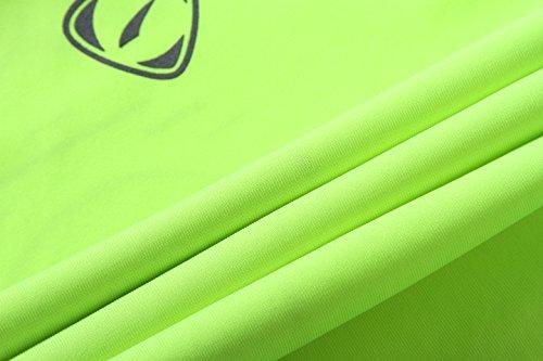 jeansian Herren Casual Long Sleeves Quick Dry T-Shirts Wicking Running Sport Tee Shirt Top LA184 LA129_GreenYellow
