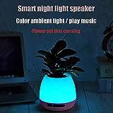 Lighting Tragbarer drahtloser Bluetooth-Musiktopfsprecher, buntes Nachtlicht des intelligenten Berührungssensors USB kann Innendekoration tun,Blau